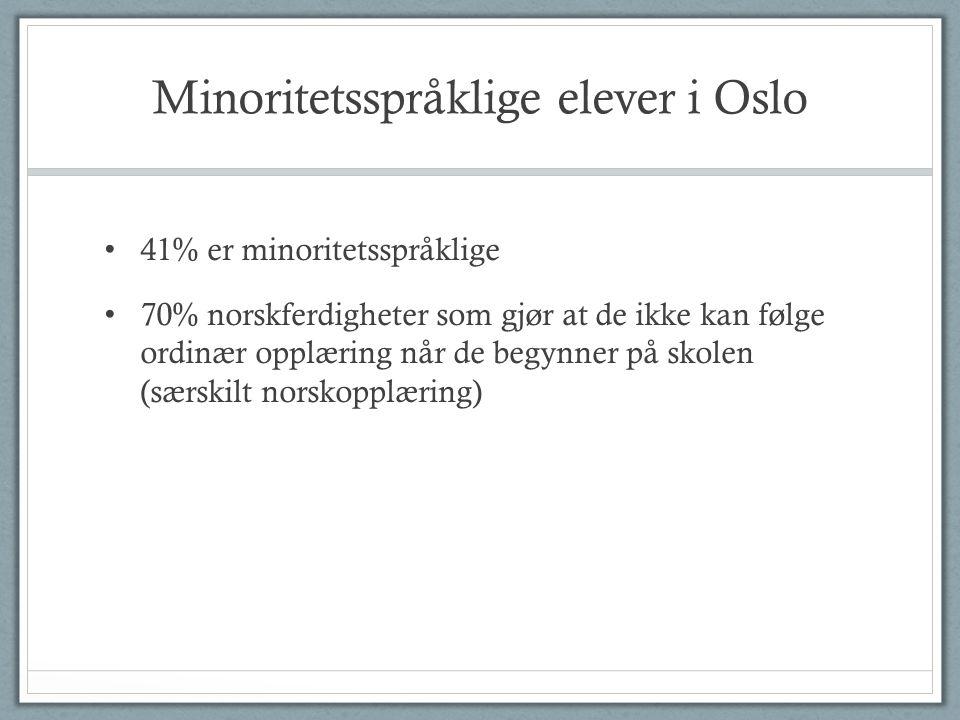 Minoritetsspråklige elever i Oslo