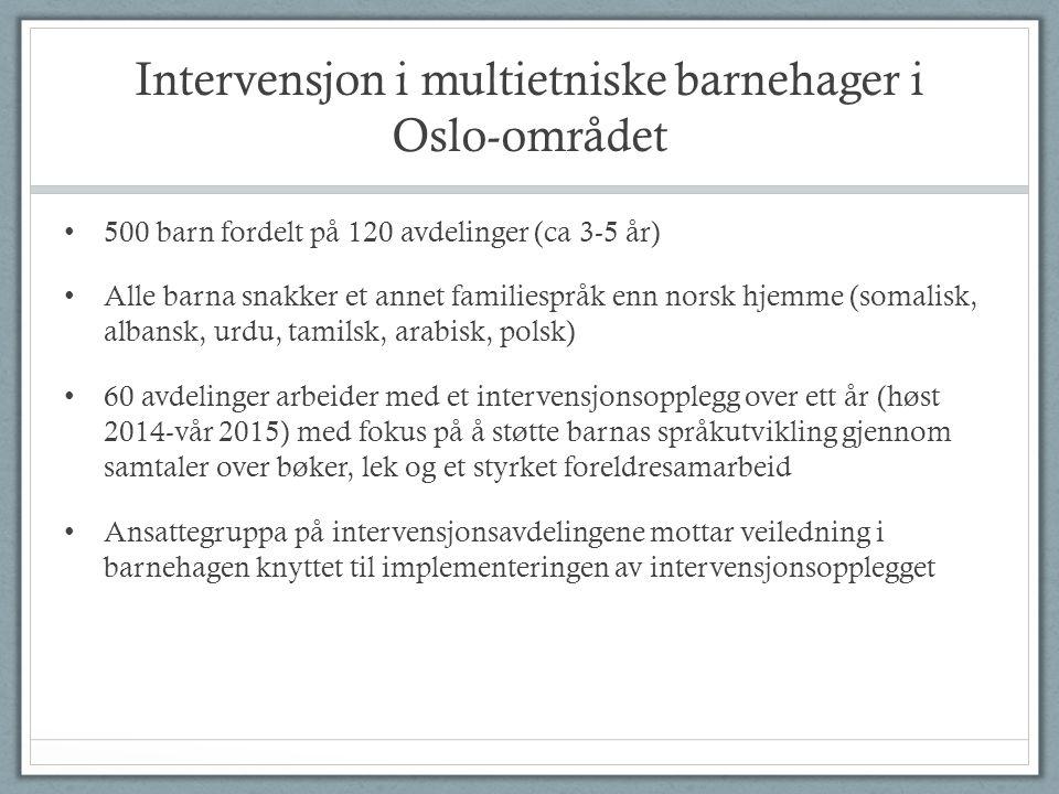Intervensjon i multietniske barnehager i Oslo-området
