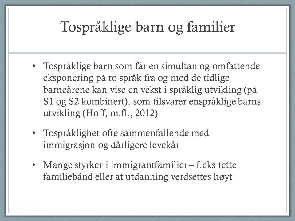 Tospråklige barn og familier