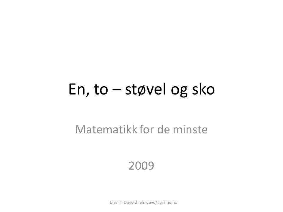 Matematikk for de minste 2009