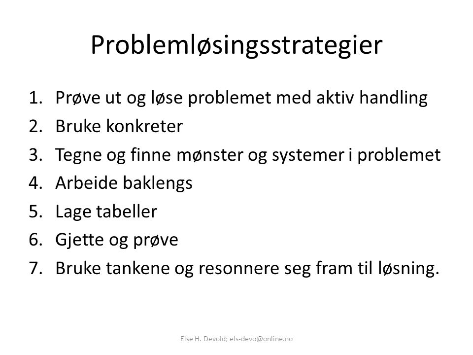 Problemløsingsstrategier