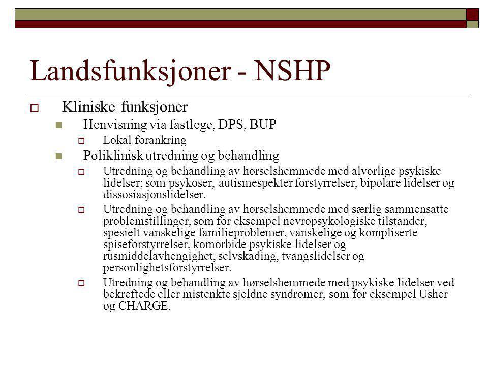 Landsfunksjoner - NSHP