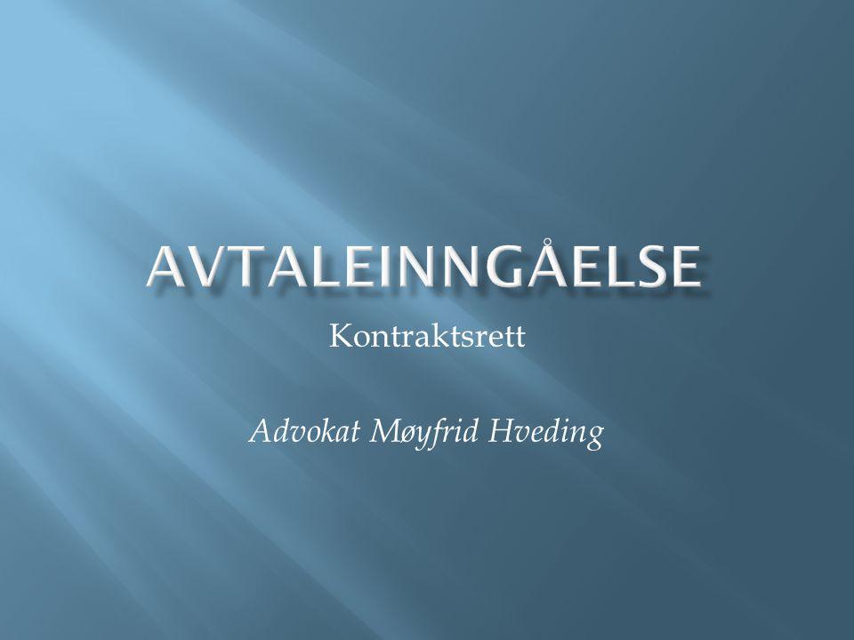 Kontraktsrett Advokat Møyfrid Hveding