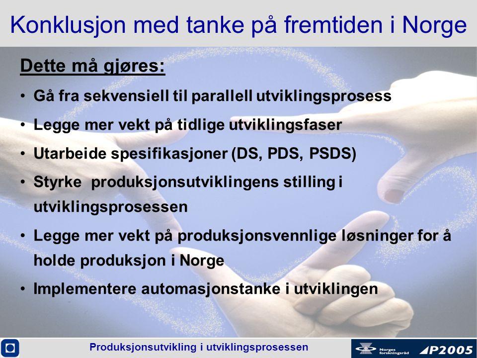 Konklusjon med tanke på fremtiden i Norge