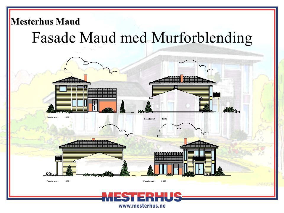 Fasade Maud med Murforblending