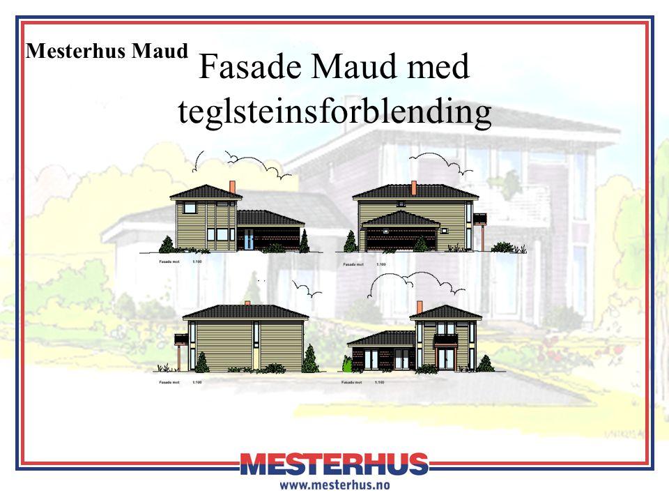 Fasade Maud med teglsteinsforblending