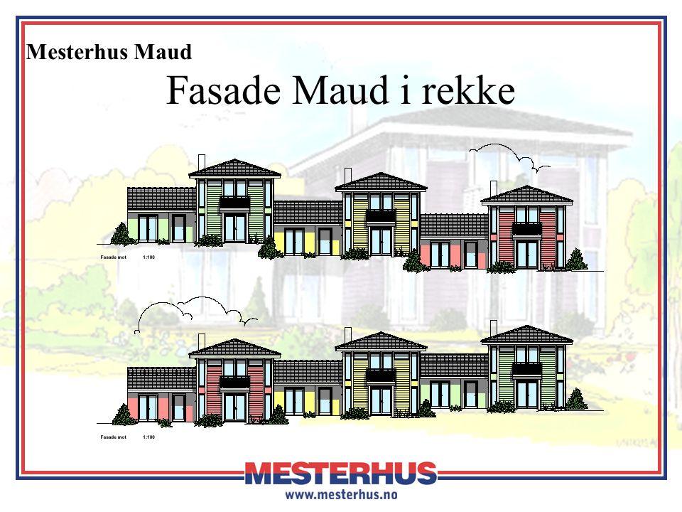 Fasade Maud i rekke