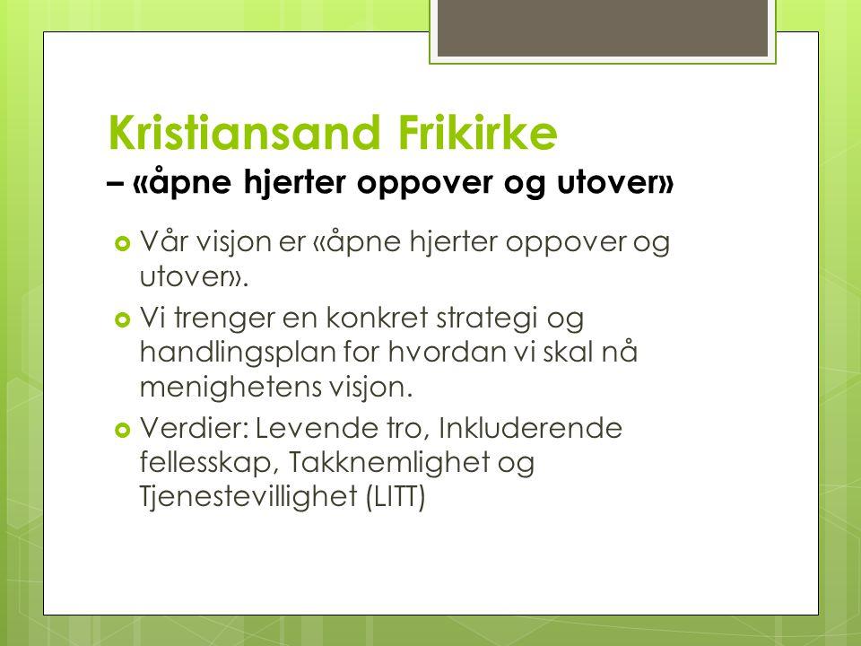 Kristiansand Frikirke – «åpne hjerter oppover og utover»