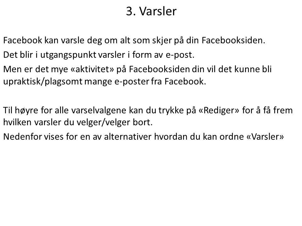 3. Varsler
