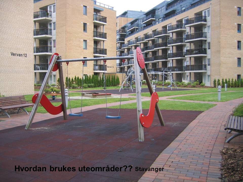 Hvordan brukes uteområder Stavanger