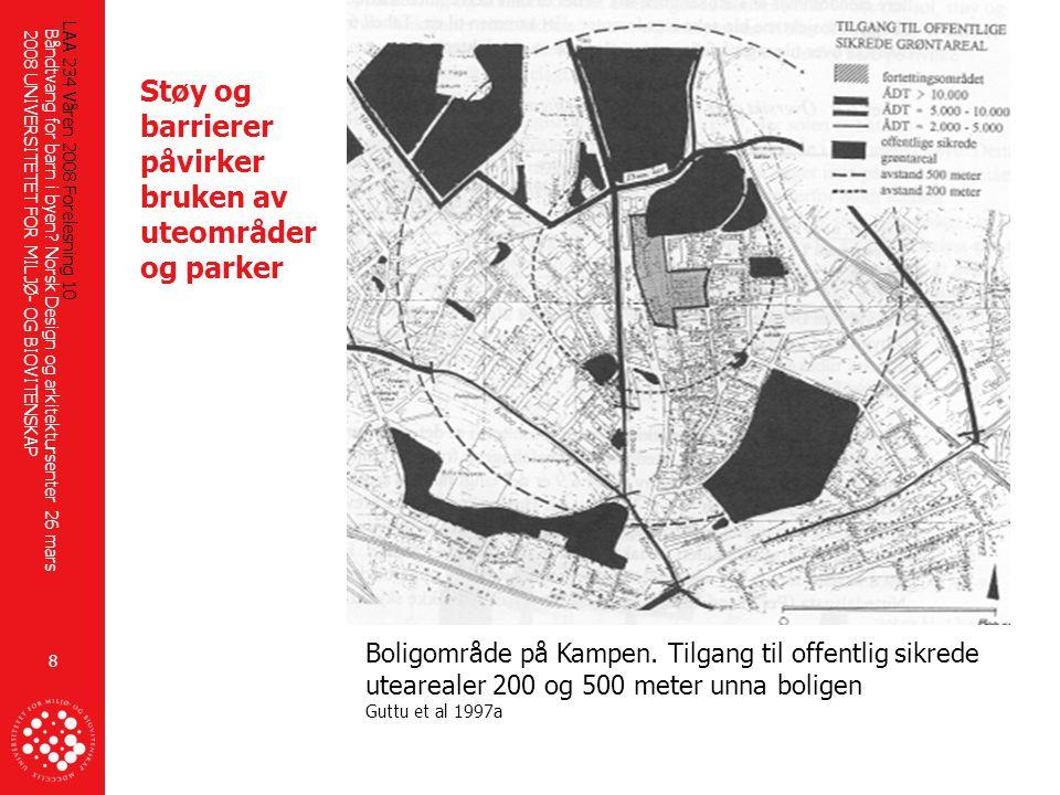 Støy og barrierer påvirker bruken av uteområder og parker