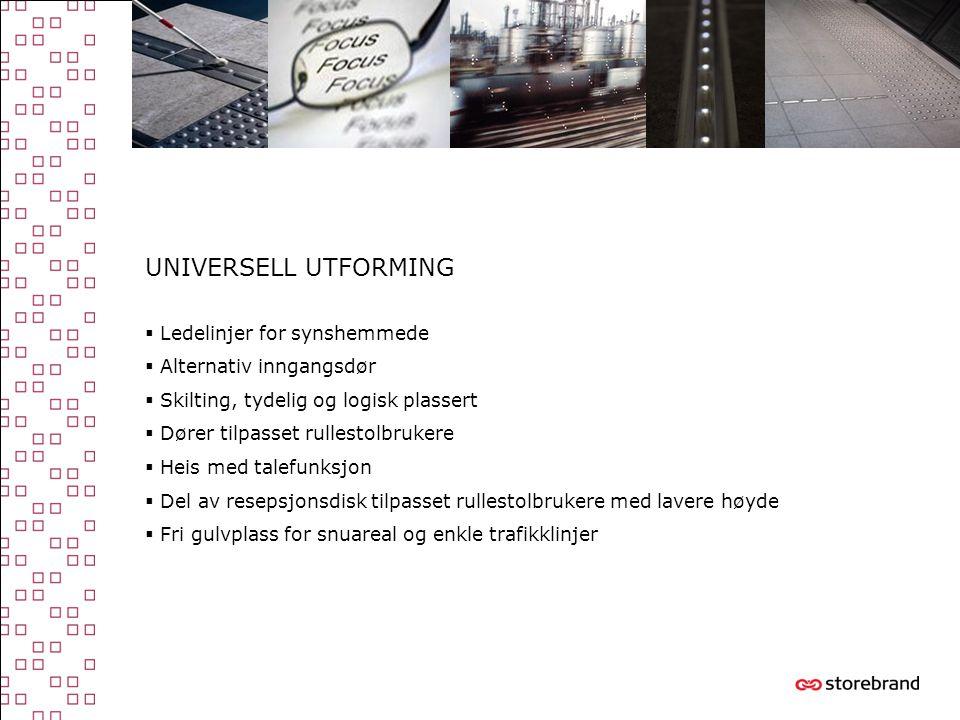 UNIVERSELL UTFORMING Ledelinjer for synshemmede Alternativ inngangsdør