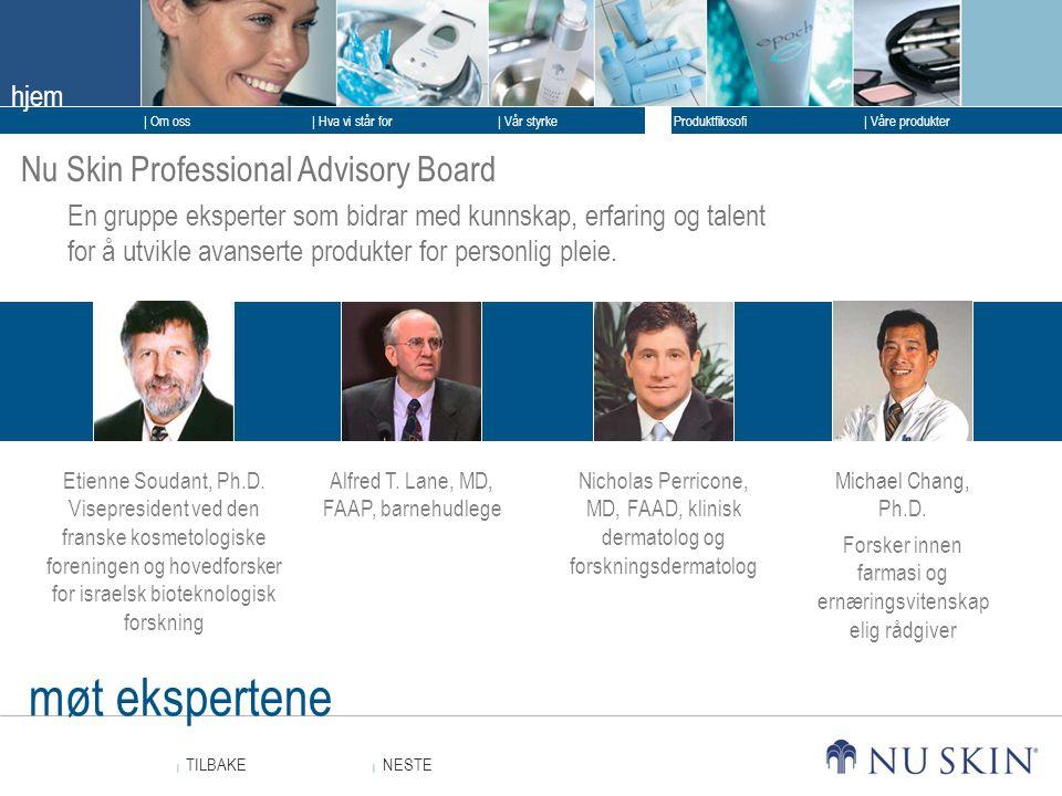 møt ekspertene Nu Skin Professional Advisory Board