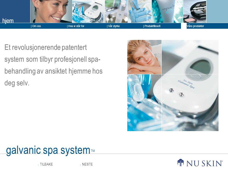 Et revolusjonerende patentert system som tilbyr profesjonell spa-behandling av ansiktet hjemme hos deg selv.