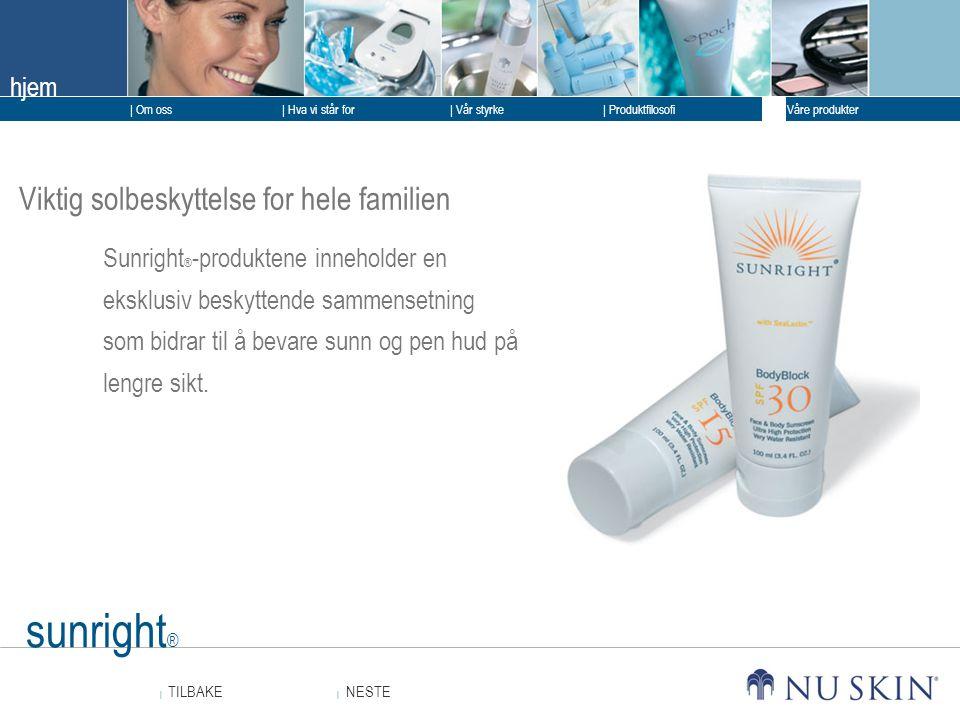 sunright® Viktig solbeskyttelse for hele familien