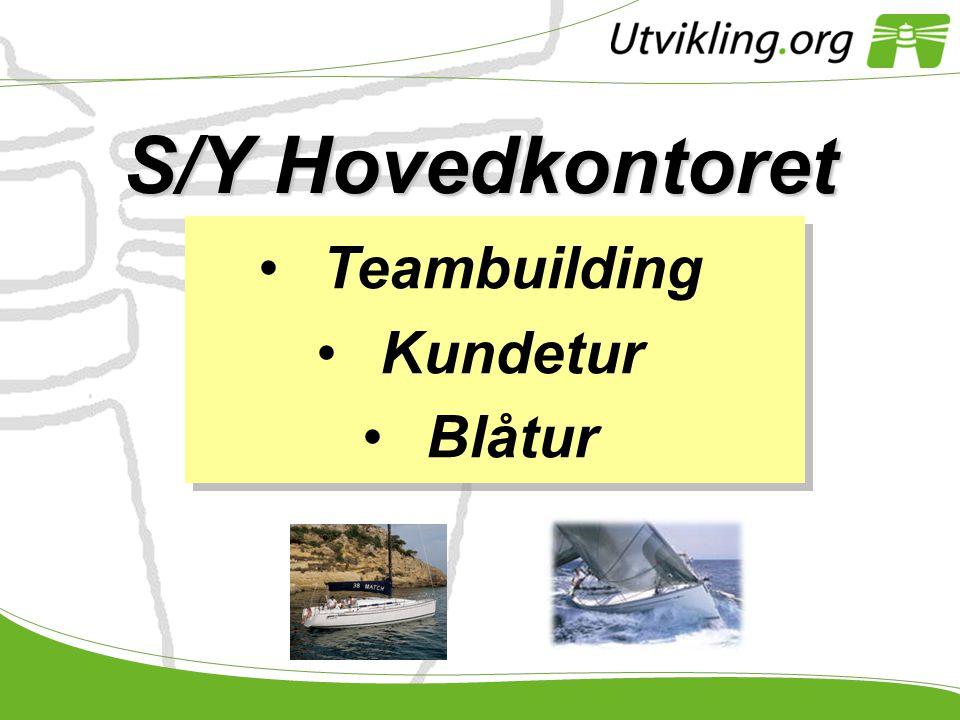 S/Y Hovedkontoret Teambuilding Kundetur Blåtur Pl + sas