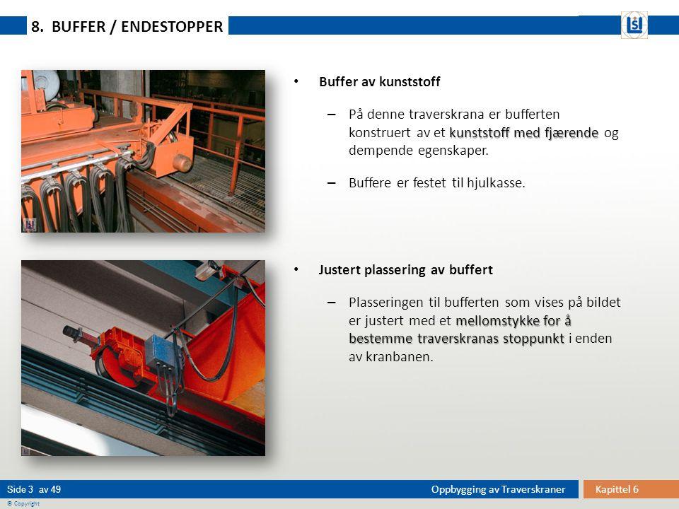 8. BUFFER / ENDESTOPPER Buffer av kunststoff