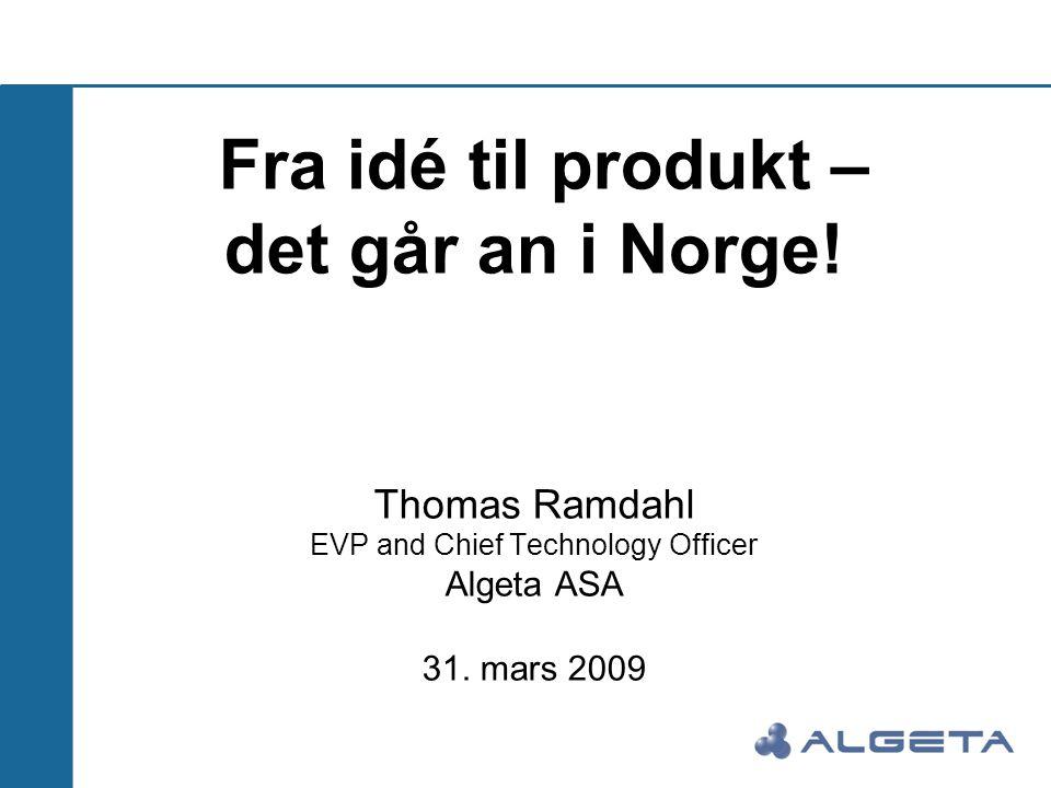 Fra idé til produkt – det går an i Norge