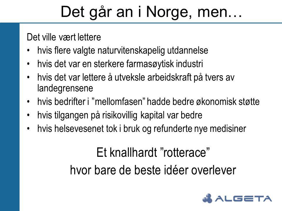 Det går an i Norge, men… Et knallhardt rotterace