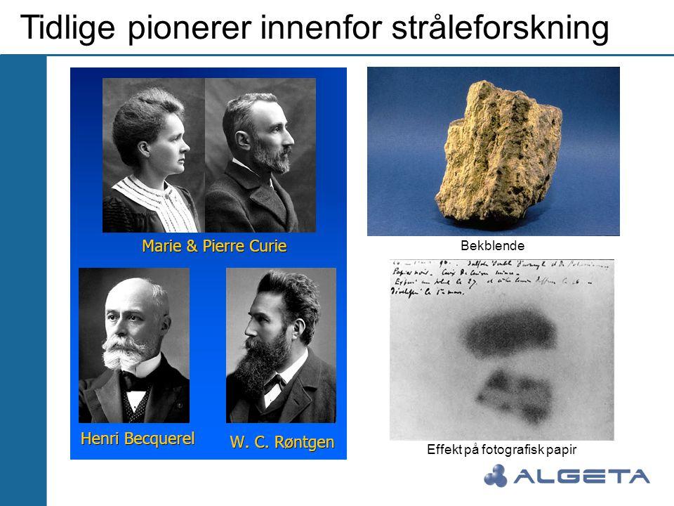Tidlige pionerer innenfor stråleforskning