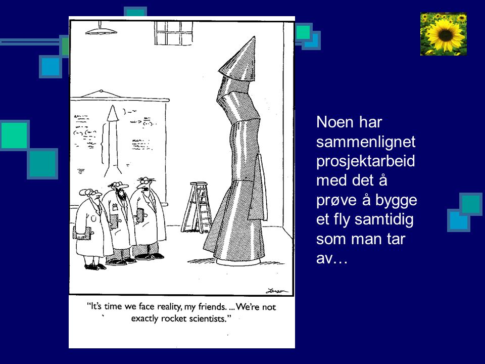 Noen har sammenlignet prosjektarbeid med det å prøve å bygge et fly samtidig som man tar av…