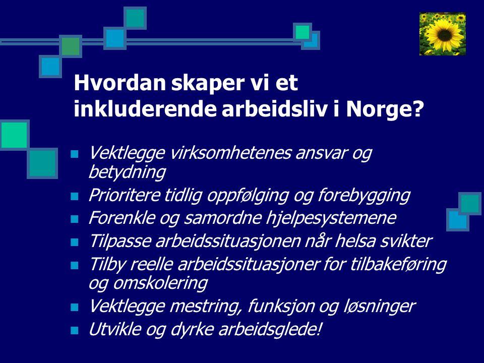 Hvordan skaper vi et inkluderende arbeidsliv i Norge