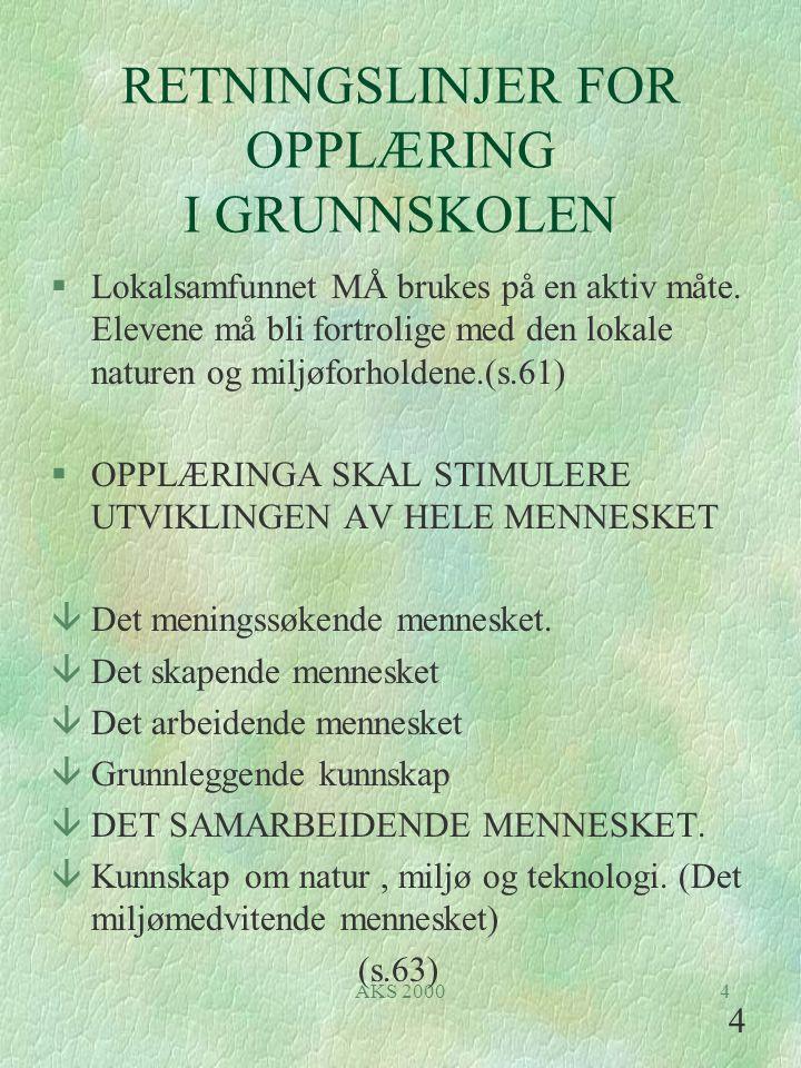 RETNINGSLINJER FOR OPPLÆRING I GRUNNSKOLEN
