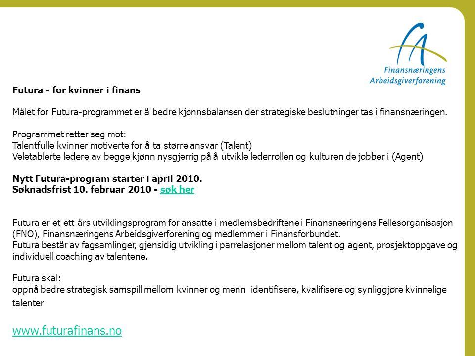 www.futurafinans.no Futura - for kvinner i finans