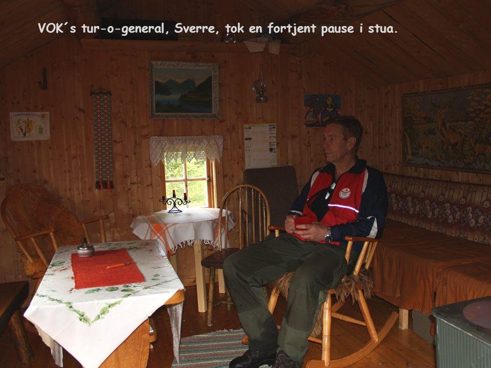 VOK´s tur-o-general, Sverre, tok en fortjent pause i stua.