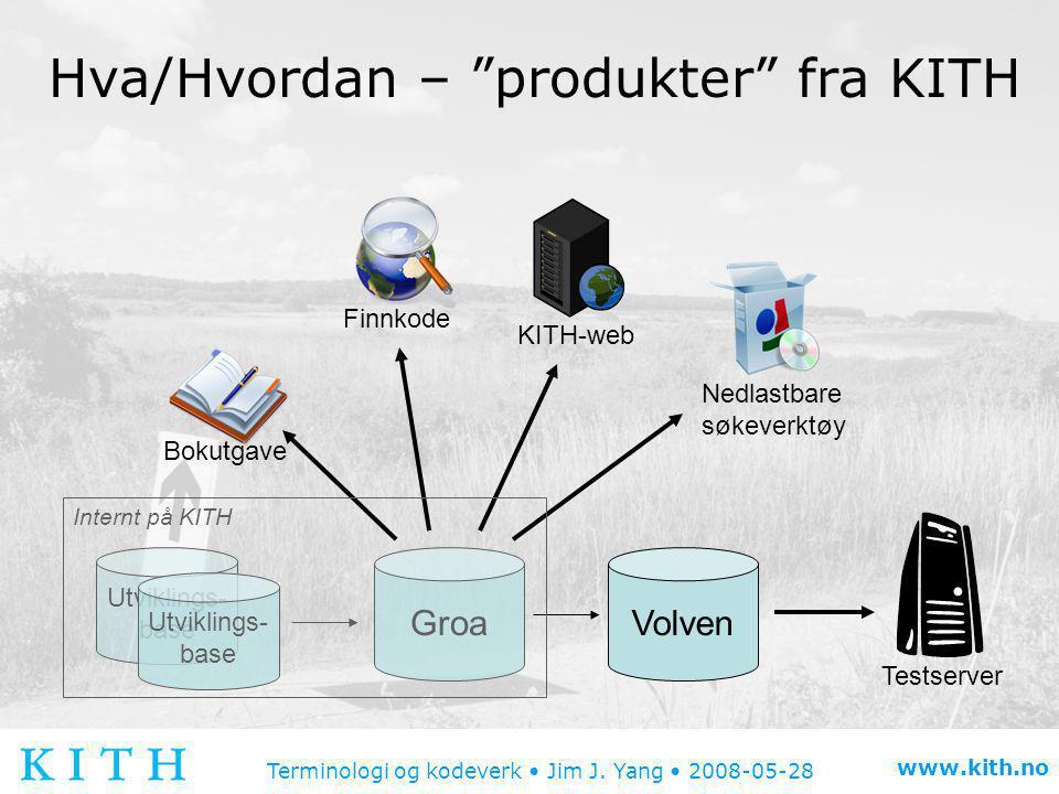 Hva/Hvordan – produkter fra KITH