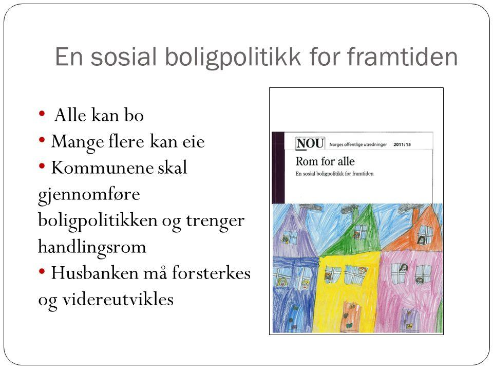 En sosial boligpolitikk for framtiden