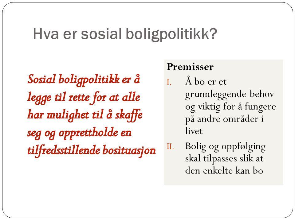 Hva er sosial boligpolitikk