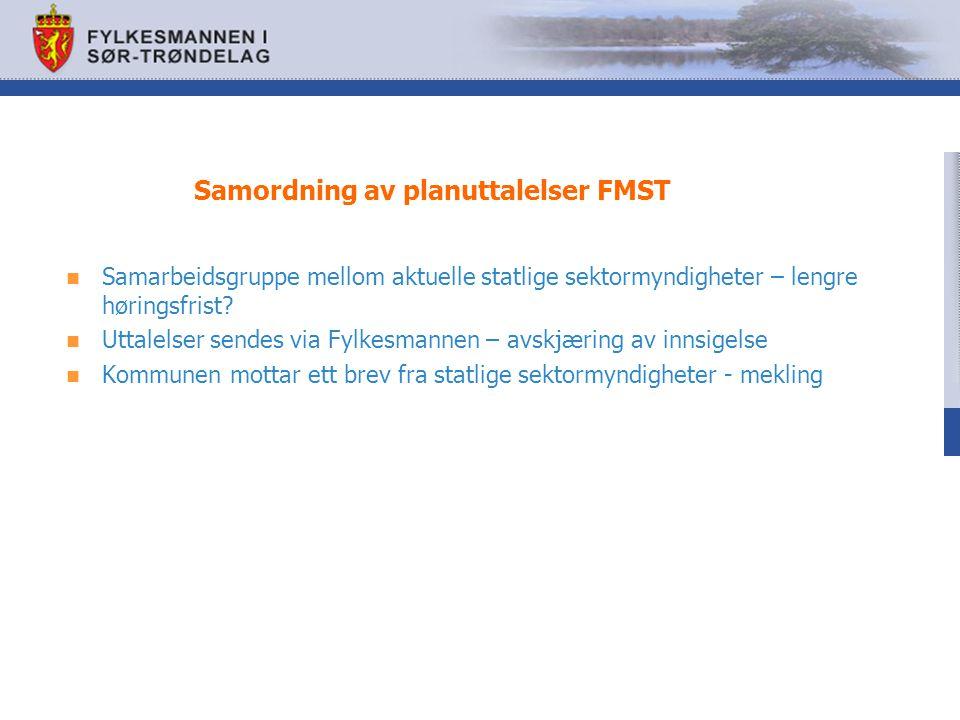 Samordning av planuttalelser FMST