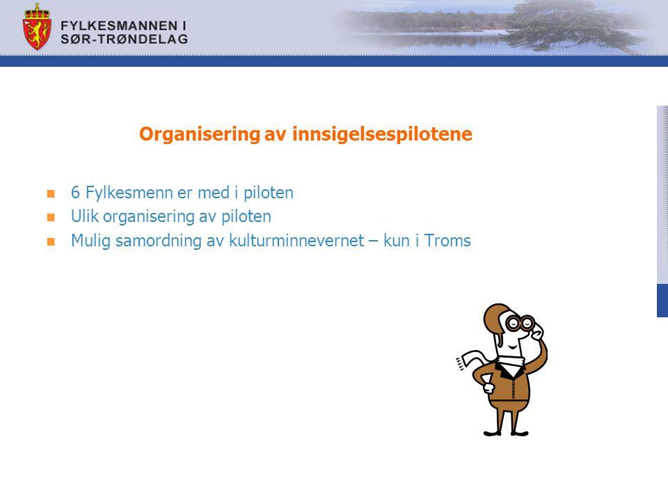 Organisering av innsigelsespilotene