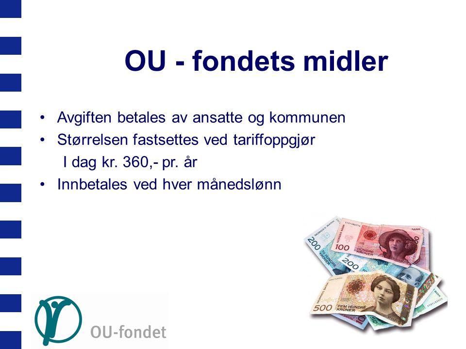 OU - fondets midler Avgiften betales av ansatte og kommunen
