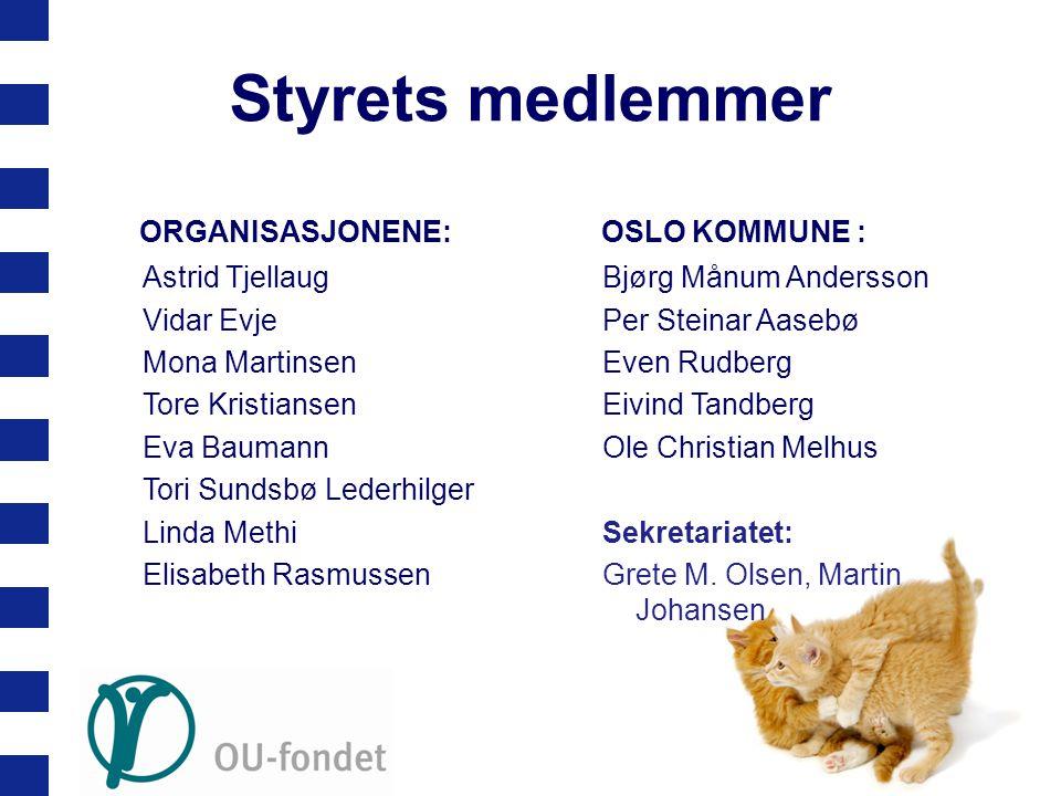 Styrets medlemmer ORGANISASJONENE: OSLO KOMMUNE : Astrid Tjellaug