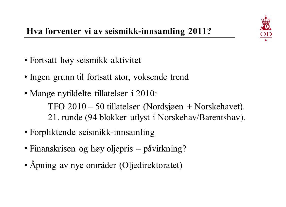 Hva forventer vi av seismikk-innsamling 2011