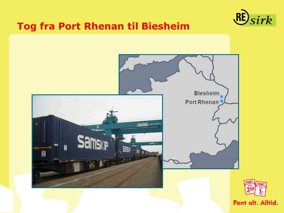 Tog fra Port Rhenan til Biesheim