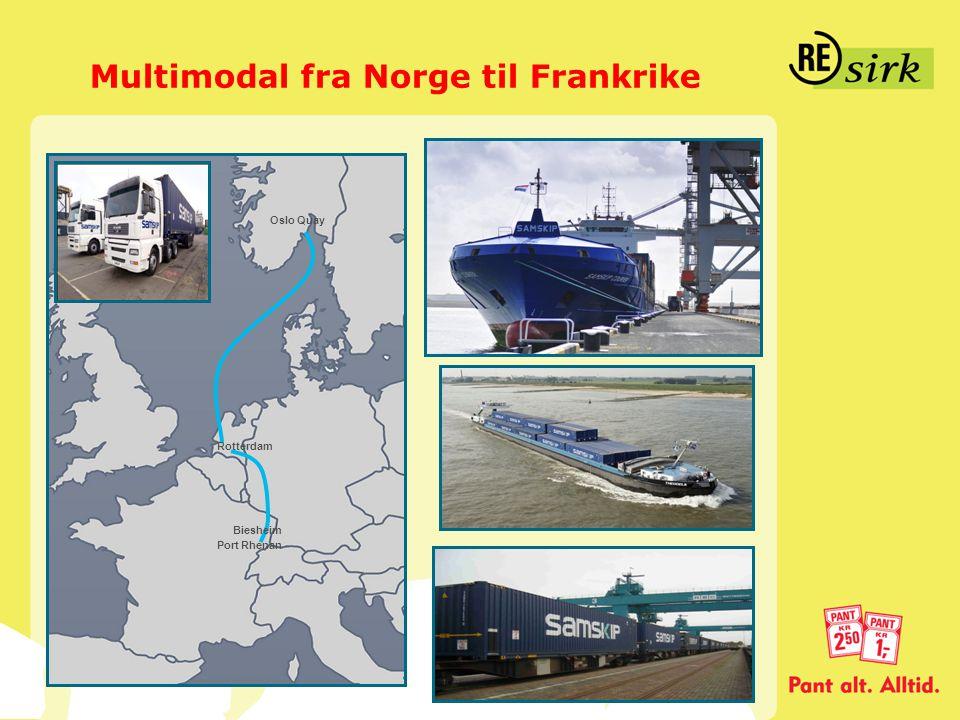 Multimodal fra Norge til Frankrike