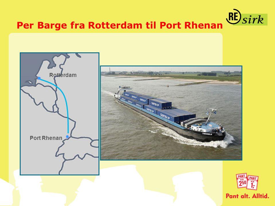 Per Barge fra Rotterdam til Port Rhenan