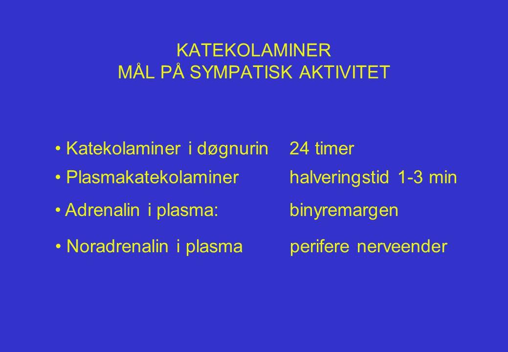 KATEKOLAMINER MÅL PÅ SYMPATISK AKTIVITET