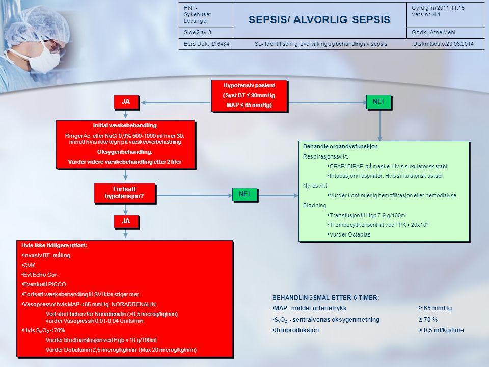 Initial væskebehandling Vurder videre væskebehandling etter 2 liter
