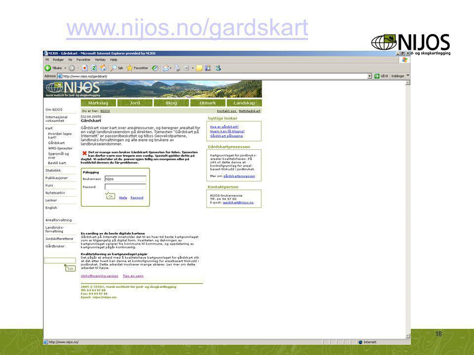 www.nijos.no/gardskart NIJOS-foredrag