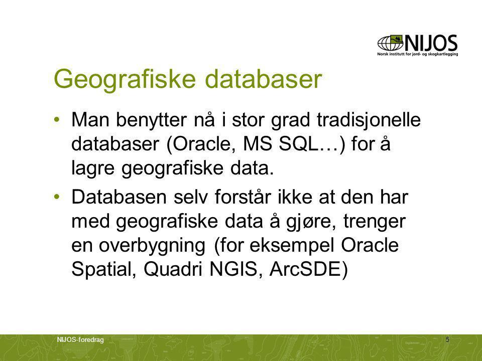 Geografiske databaser
