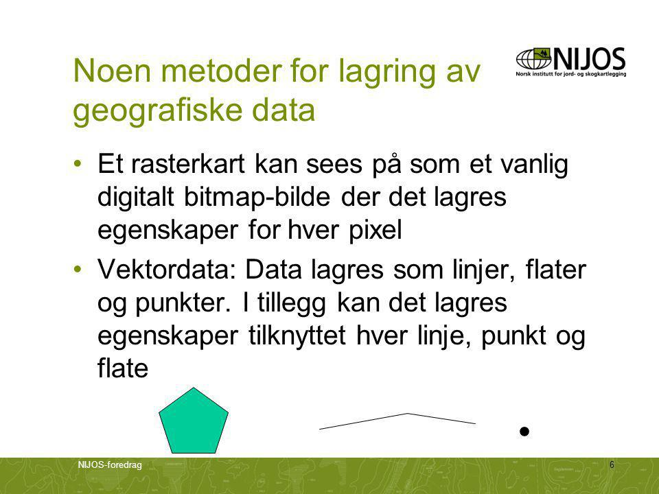 Noen metoder for lagring av geografiske data