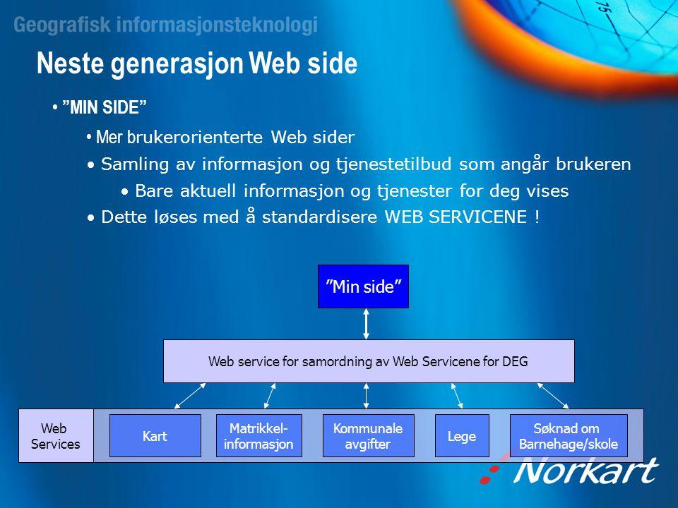 Web service for samordning av Web Servicene for DEG