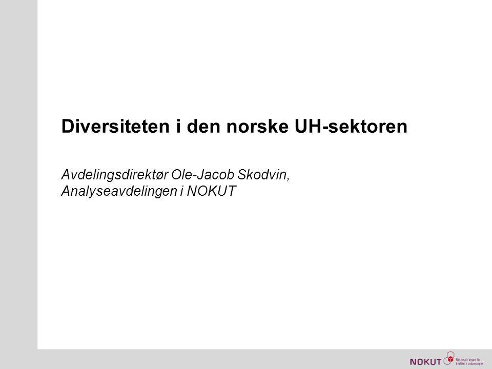 Diversiteten i den norske UH-sektoren