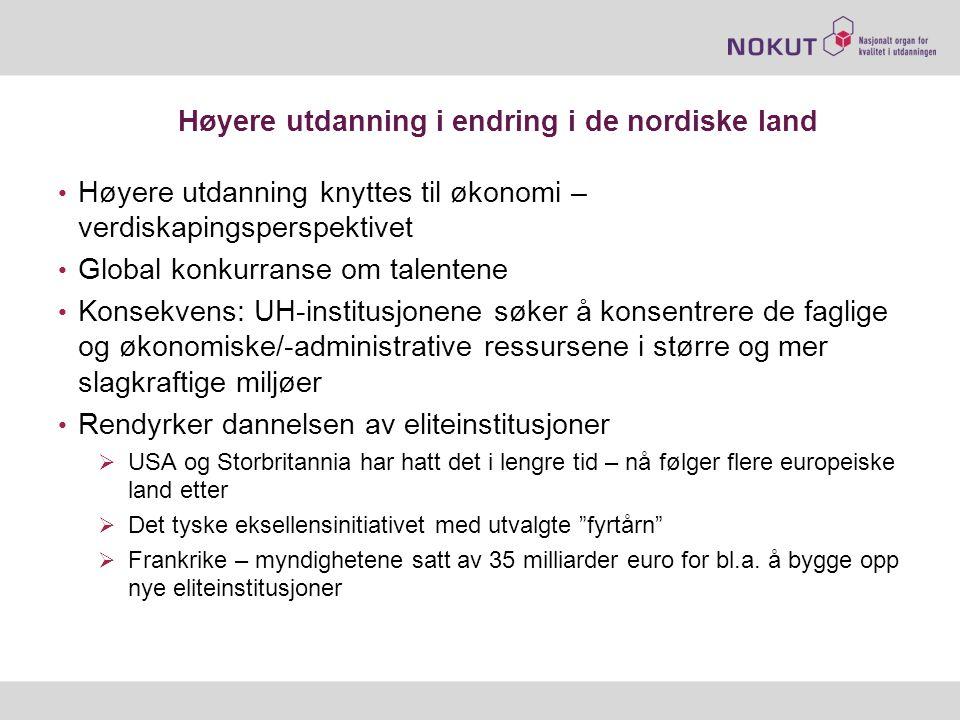 Høyere utdanning i endring i de nordiske land