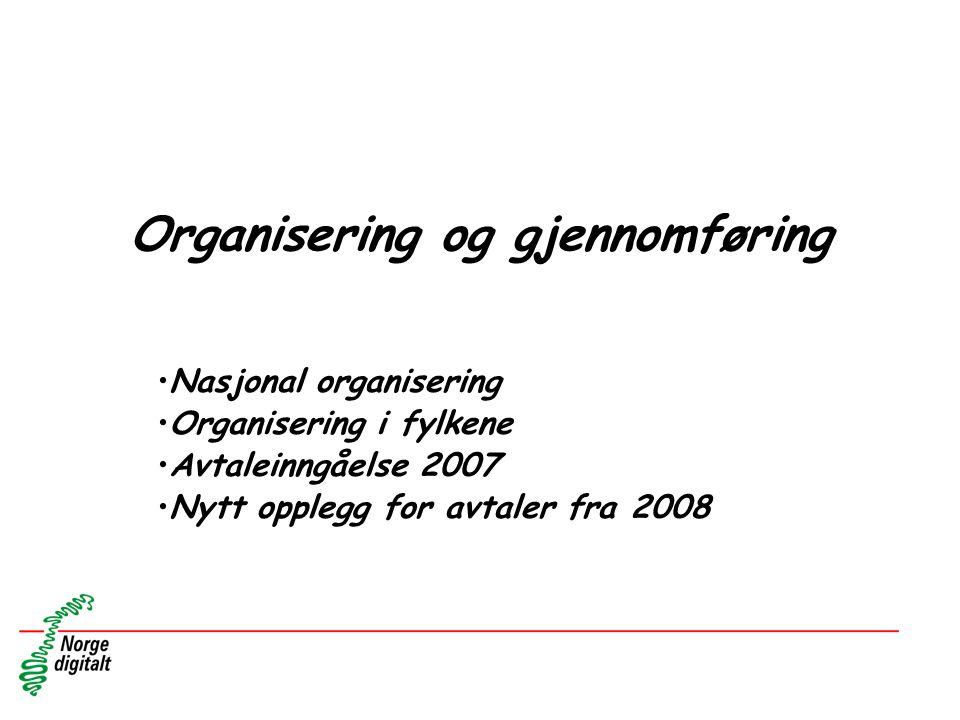 Organisering og gjennomføring