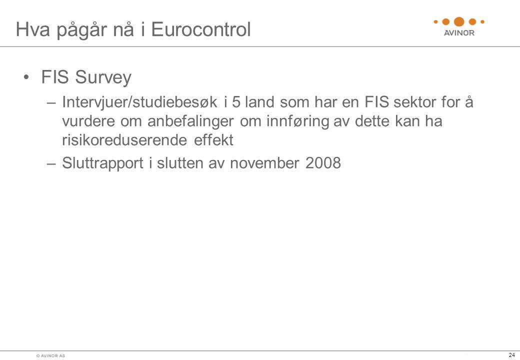 Hva pågår nå i Eurocontrol